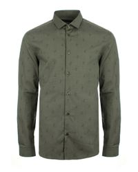 Versace | Medusa Head Jacquard Shirt Green for Men | Lyst