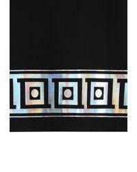 Versace - Metallic Greca Key T-shirt Black for Men - Lyst
