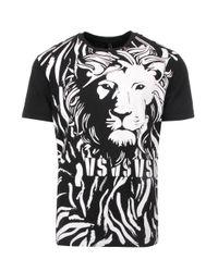 Versus  - Black Lion Print T-shirt for Men - Lyst
