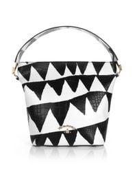 Vivienne Westwood - Bristol 7347 Shoulder Bag Black/white Triangle - Lyst