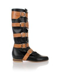 Vivienne Westwood | Leather Pirate Boots Black | Lyst
