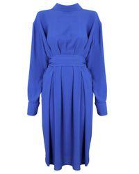 Vivienne Westwood   Blue Crepe Du Chine Back To Front Dress Cobalt   Lyst