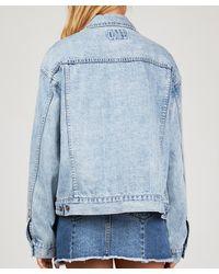 Insight - Blue Oversized Boyfriend Denim Jacket Iced - Lyst