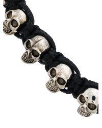 Alexander McQueen - Multicolor Skulls Drawstring Bracelet for Men - Lyst