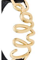 Chloé - Metallic Logo Cuff Bracelet - Lyst