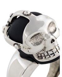 Alexander McQueen - Multicolor Mask Skull Ring for Men - Lyst