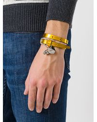 Alexander McQueen - Multicolor Skull Leather Bracelet - Lyst