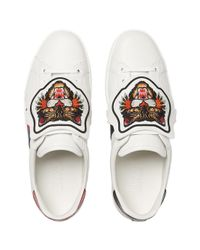 Gucci - Multicolor Ace Sneaker With Removable Embroideries - Lyst