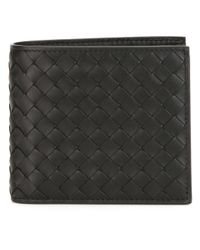 Bottega Veneta - Black - Woven Billfold Wallet - Men - Leather - One Size for Men - Lyst