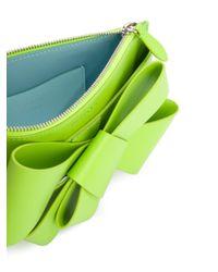 Delpozo - Green Asymmetric Bow Clutch - Lyst
