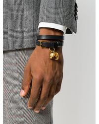 Alexander McQueen - Multicolor Double Wrap Skull Bracelet for Men - Lyst
