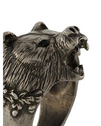 DSquared² - Multicolor Bear's Head Ring for Men - Lyst