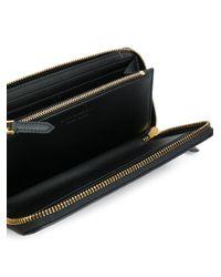 Burberry - Black Zip Around Wallet - Lyst