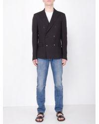 Valentino Double-brest Silk Blazer in Blue for Men - Lyst e8782d9e6