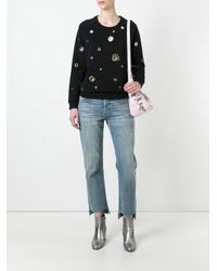 KENZO - Black Eyelet Embellished Sweatshirt - Lyst