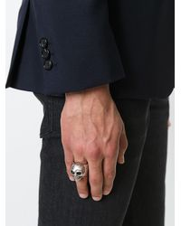Alexander McQueen - Multicolor Divided Skull Ring for Men - Lyst