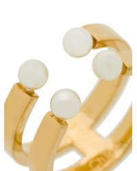 Chloé - Metallic Darcey Double Ring - Lyst