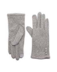 G.H. Bass & Co. - Gray Fleece Touch Glove - Lyst