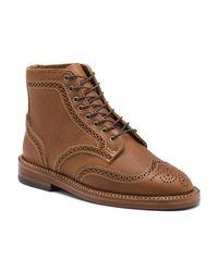 G.H. Bass & Co. | Brown Maureen Wingtip Boot for Men | Lyst