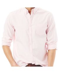 G.H. Bass & Co.   Pink Kevin Solid Oxford Shirt for Men   Lyst