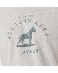 G.H. Bass & Co. - Gray Wilson's Tavern Graphic T-shirt for Men - Lyst