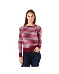 G.H. Bass & Co. | Red Fairisle Sweater | Lyst