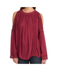 G.H. Bass & Co. - Embroidered Long Sleeve Top - Lyst