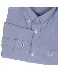 Fred Perry - Blue Shirt Men for Men - Lyst