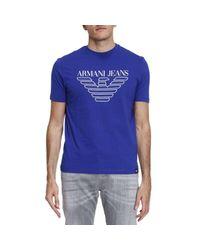 Armani Jeans - Blue T-shirt Men for Men - Lyst