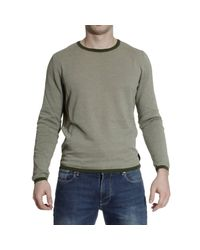 Fendi | Gray Sweater Roundneck Cotton Micro Damie for Men | Lyst