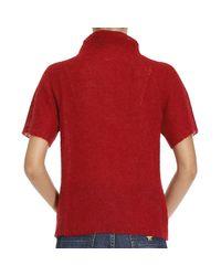 Emporio Armani   Red Giorgio Armani Women's Sweater   Lyst
