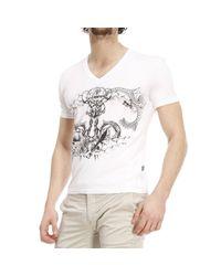 Just Cavalli - White T-shirt for Men - Lyst