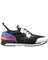 Hogan - Black Sneakers Rebel 261 Running Neoprene Pelle E Rete for Men - Lyst