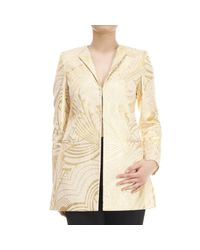 Genny - Metallic Cappotto Broccato Lurex - Lyst