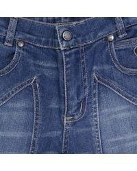 Jeckerson - Blue Jeans Bermuda Denim Used Slim Con Toppa for Men - Lyst