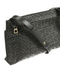 Loewe - Black Mini Bag Medium Logo Leather T-pouch - Lyst