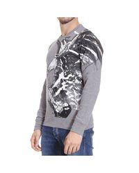 Just Cavalli - Gray Diamond-knit Cardigan for Men - Lyst