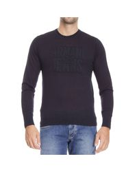 Armani Jeans | Blue Sweater Man for Men | Lyst