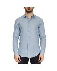 Emporio Armani | Blue Shirt Men for Men | Lyst