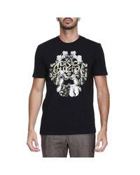 Versace | Black T-shirt Men for Men | Lyst