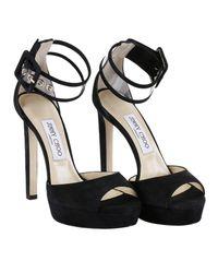 Jimmy Choo - Black Heeled Sandals Shoes Women - Lyst