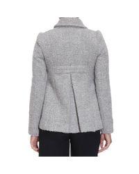 Patrizia Pepe | Gray Coat Woman | Lyst