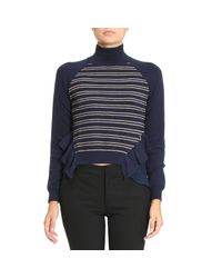 Patrizia Pepe - Blue Sweater Women - Lyst