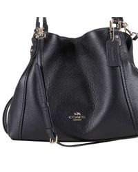 COACH - Black Edie Shoulder Bag - Lyst