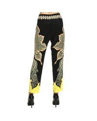 Etro - Black Pants Women - Lyst
