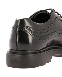 Hogan Black Shoes Men for men