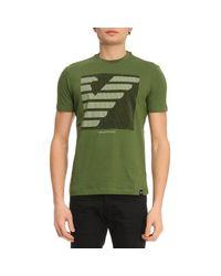 Emporio Armani - Green T-shirt Men for Men - Lyst