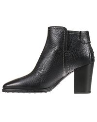 Tod's Black Heeled Booties Shoes Woman