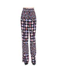 Emilio Pucci | Blue Pants Trouser Women | Lyst