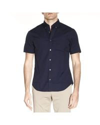 Burberry - Blue Shirt Men for Men - Lyst